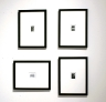4 framed black and white gelatin prints 2007