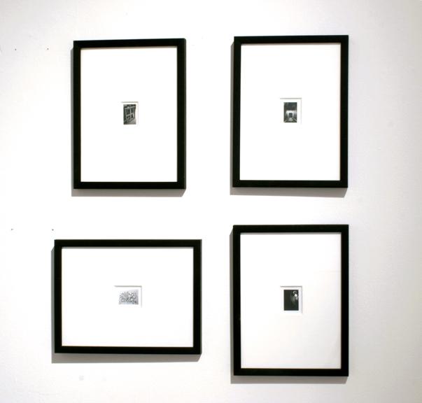 4 framed black and white gelatin prints 2007